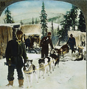 Yukon River Framed Prints - ALASKAN DOG SLED, c1900 Framed Print by Granger