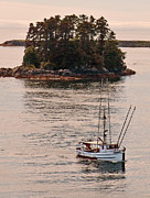 Trawler Metal Prints - Alaskan fishing boat Unimak Metal Print by Jim Chamberlain