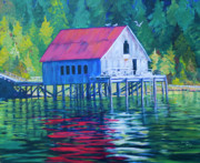 Shed Paintings - Alaskan Gear Shed by Donna Drake