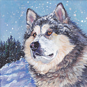 Alaskan Malamute Print by Lee Ann Shepard