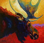 Wildlife Paintings - Alaskan Spirit - Moose by Marion Rose