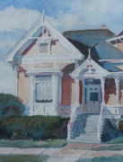 Building Painting Originals - Albany Painted Lady by Jenny Armitage