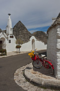 Yellow Bike Framed Prints - Alberobello - Apulia Framed Print by Joana Kruse