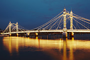 Chelsea Prints - Albert Bridge Print by Richard James Taylor