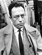 Trench Coat Framed Prints - Albert Camus (1913-1960) Framed Print by Granger