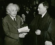 Germans Prints - Albert Einstein 1879-1955, Receiving Print by Everett