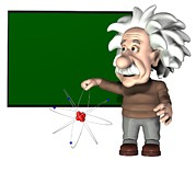Presenting Prints - Albert Einstein, Artwork Print by Friedrich Saurer