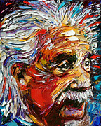 Albert Einstein Paintings - Albert Einstein by Debra Hurd