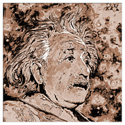 Mass Effect Metal Prints - Albert Einstein Metal Print by Detlev Van Ravenswaay