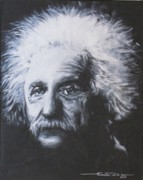 Albert Einstein Framed Prints - Albert Einstein Framed Print by Eric Dee