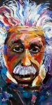 Einstein Prints - Albert Einstein genius Print by Debra Hurd