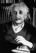 Mass Effect Metal Prints - Albert Einstein, German-american Metal Print by Science Source