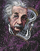 Theories Posters - Albert Einstein, German Physicist Poster by Bill Sanderson
