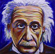 Math Paintings - Albert Einstein by Buffalo Bonker