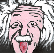 E Mc2 Framed Prints - Albert Einstein Framed Print by Jera Sky
