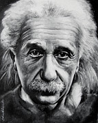 Albert Einstein Paintings - Albert Einstein portrait. by Olga Tereshchuk