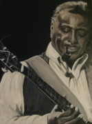 African-american Paintings - Albert King by Roberta Voss