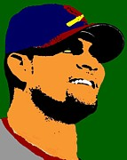 Cardnals Posters - Albert Pujols Poster by Paul Van Scott