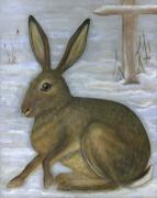 Polish American Artists Posters - Albert the Hare Poster by Anna Folkartanna Maciejewska-Dyba