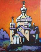 Church Sculpture Prints - Alberta Church Print by Tea Preville