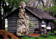 Log Cabin Photos - Alberta Log Cabin by Al Bourassa
