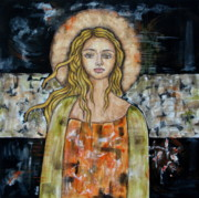 Christian Art . Devotional Art Paintings - Alberta by Rain Ririn