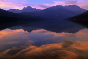 Alberta Rocky Mountains Prints - Alberta Reflections  Print by Bob Christopher