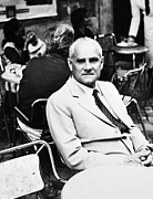 Moravia Photos - Alberto Moravia (1907-1990) by Granger