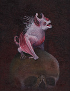 Vampire Bat Paintings - Albino Bat by Tommy Hawen
