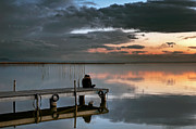 Flooded Photos - Albufera. Couple. Valencia. Spain by Juan Carlos Ferro Duque