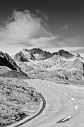 Mountain Road Prints - Albula Pass Road Print by daitoZen