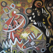 Visionary Artist Painting Originals - Albuquerque One by Rosalyn Stevenson
