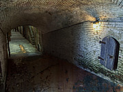 Forboding Prints - Alcatraz 1866 Tunnel Print by Daniel Hagerman