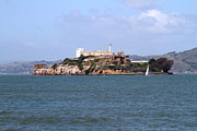 Alcatraz Island In San Francisco California . South Side . 7d14288 Print by Wingsdomain Art and Photography
