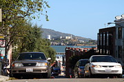 Alcatraz Island Art - Alcatraz Island Through The Hyde Street Pier in San Francisco California . 7D13973 by Wingsdomain Art and Photography
