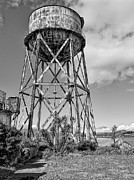 Alcatraz Island Photos - Alcatraz Penitentiary Water Tower by Daniel Hagerman