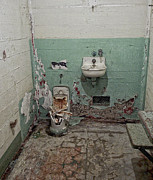 Jail House Rock Prints - Alcatraz Vandalized Cell Print by Daniel Hagerman
