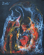 Conjuring Paintings - Alchemical Heart by Christophe Ennis