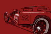 Hot Rod Prints - Alchemy RED Print by Jeremy Lacy