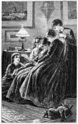 Women Children Framed Prints - Alcott: Little Women Framed Print by Granger
