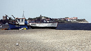 Aldeburgh Prints - Aldeburgh Boats and Thorpness Watercolour. Print by Darren Burroughs