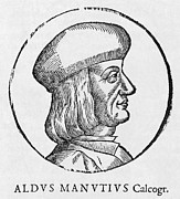 Italic Font Prints - Aldus Manutius, Italian Printer Print by Middle Temple Library