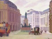 Bus Framed Prints - Aldwych  Framed Print by Robert Polhill Bevan