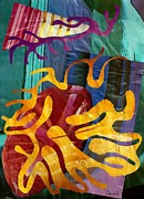 Total Abstract Posters - Alegria Poster by Sarah Loft