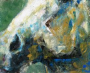 White Horse Painting Originals - Alerted by Frances Marino
