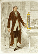 Metal Strips Posters - Alessandro Volta, Italian Physicist Poster by Science Source