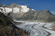 Alp Photos - Aletsch Glacier Switzerland by Matthias Hauser