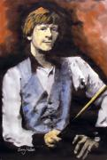 Ball Room Painting Posters - Alex Higgins  Poster by Barry Mullan