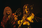 Rich Fuscia Posters - Alex Lifeson and Geddy Lee Poster by Rich Fuscia