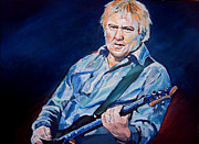 Musician Paintings - Alex Lifeson by Merv Scoble